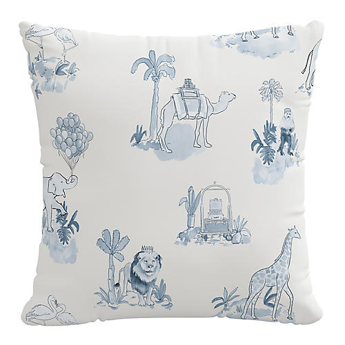 Toile 20x20 Pillow, Blue