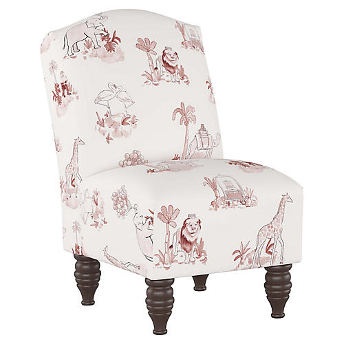 Toile Kids' Chair, Pink