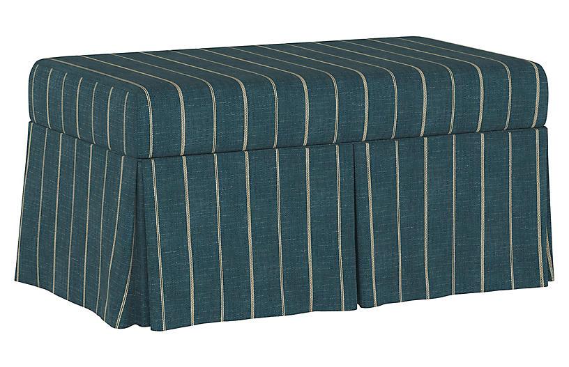 Hayworth Storage Bench, Fritz Indigo