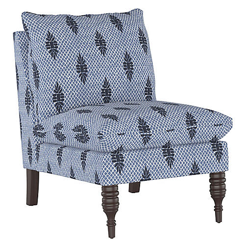 Daphne Slipper Chair, Boca Medallion