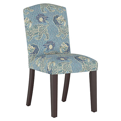 Marie Side Chair, Blue Lion