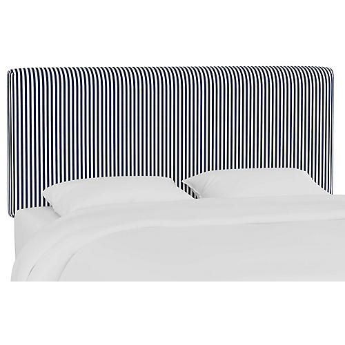 Novak Headboard, Navy Stripe