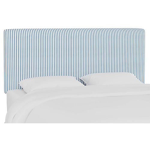 Novak Headboard, Blue Stripe