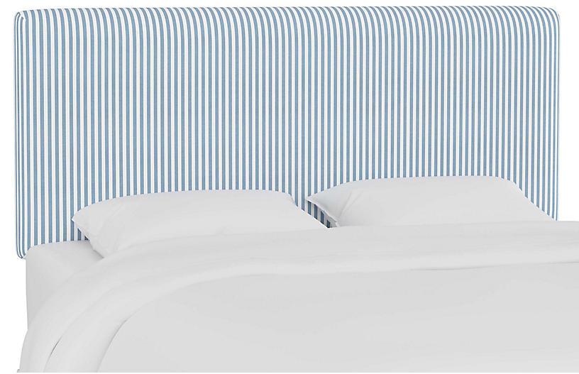 Novak Headboard, Blue Stripe