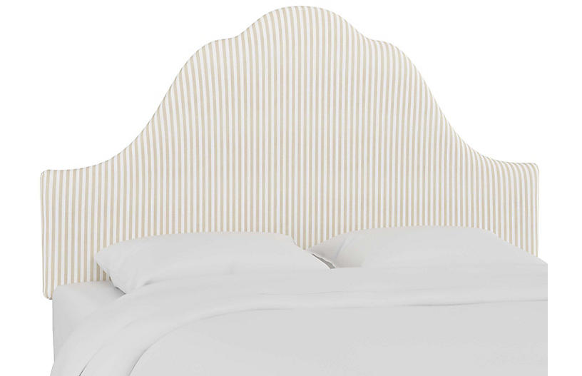 Emma Arched Headboard, Natural Stripe