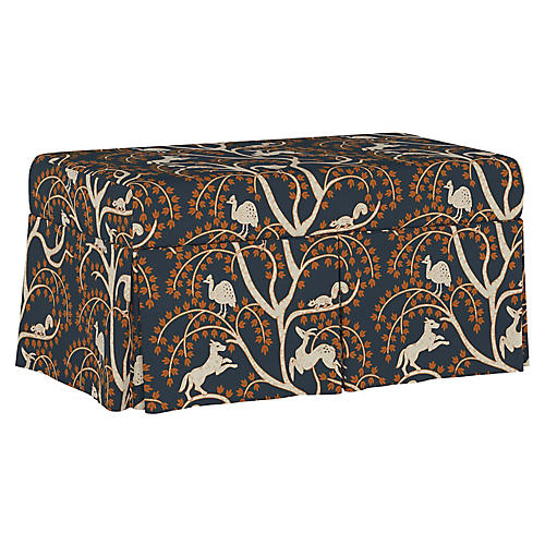 Hayworth Storage Bench, Vintage Vines