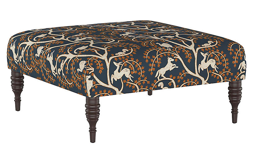 Ian Cocktail Ottoman, Vintage Vines
