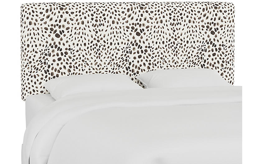 Novak Headboard, Gray Cheetah