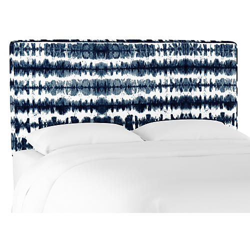 Macy Headboard, Dark Navy Stripe