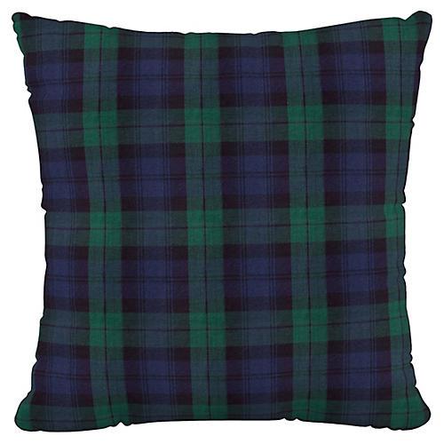 Theo 20x20 Pillow, Navy Plaid