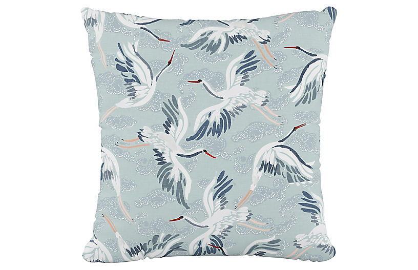 Brookville 20x20 Pillow, Cranes