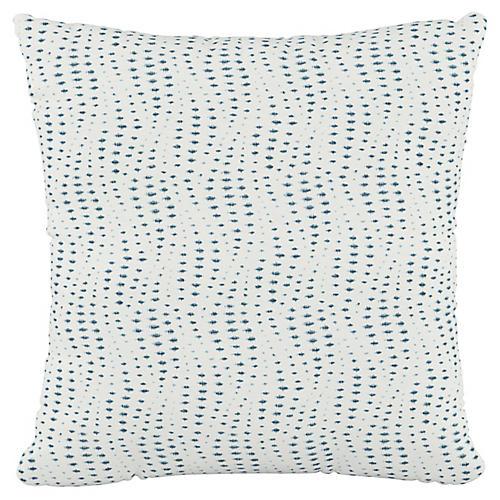 Sea 20x20 Pillow, Ivory/Blue