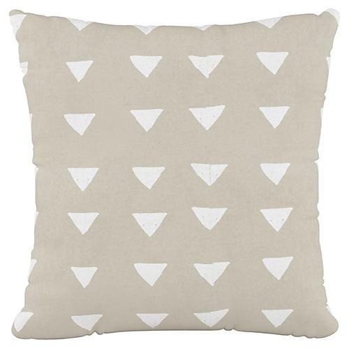 Kira 20x20 Pillow, Natural Triangle