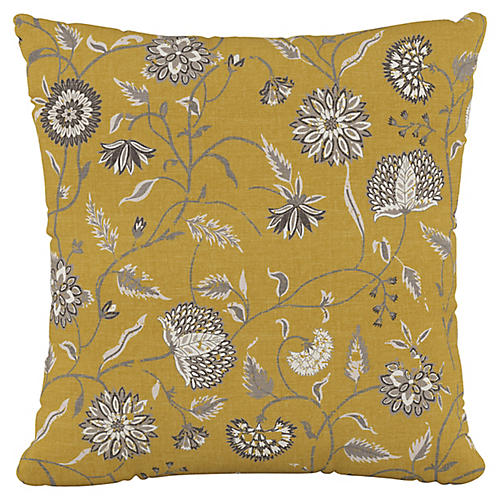 Lisa 20x20 Pillow, Dahlia Yellow