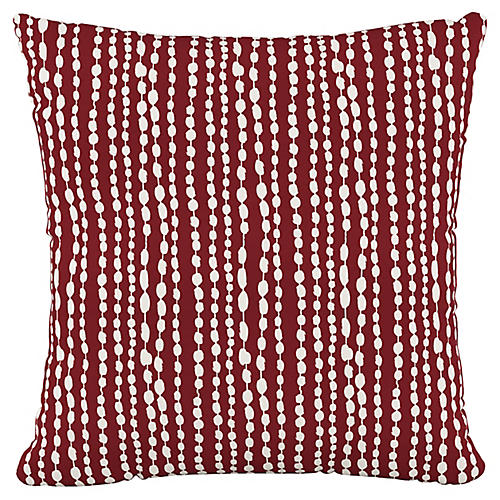 Sophie 20x20 Pillow, Red/White