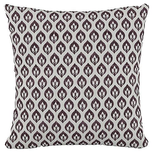 Elliot Floral 20x20 Pillow, Plum