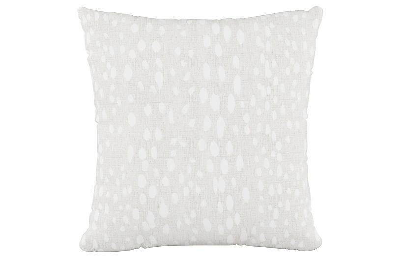 Snow Leopard 20x20 Pillow, Ivory