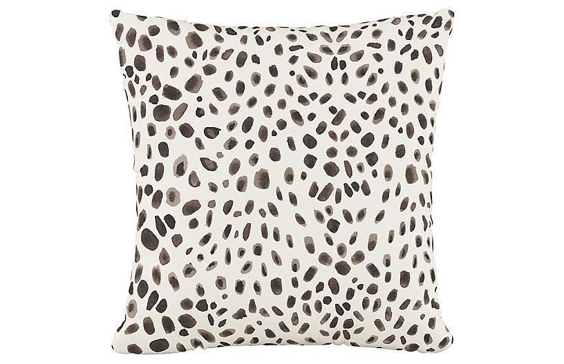 Sabrina 20x20 Pillow, Gray Cheetah