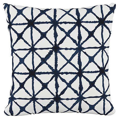 Cross 20x20 Pillow, Indigo/White