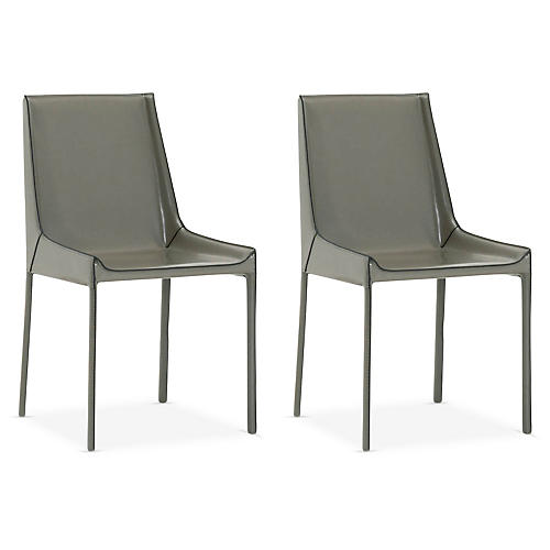 S/2 Conrad Side Chairs, Cappuccino