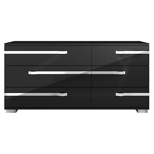 Lustro Double Dresser, Black