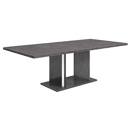 Warwick Extension Dining Table, Gray Birch