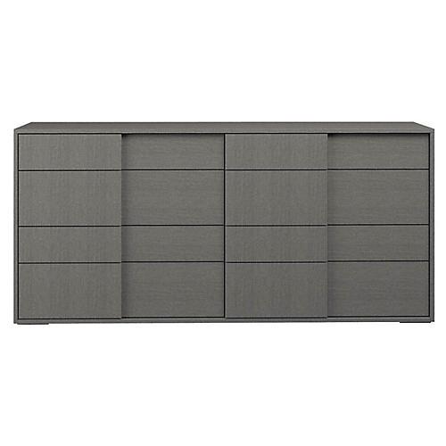 Forte Double Dresser, Matte Gray