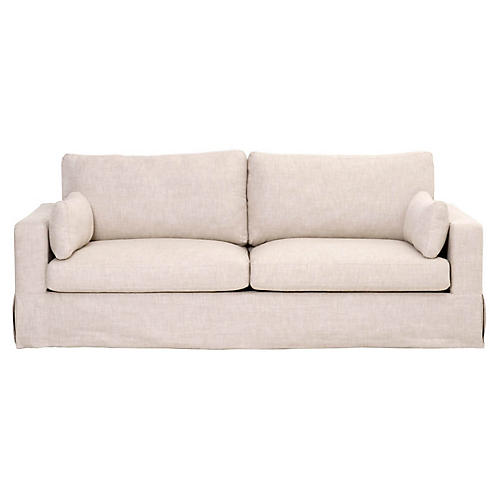 Theodore 2-Seat Sofa, Bisque Linen