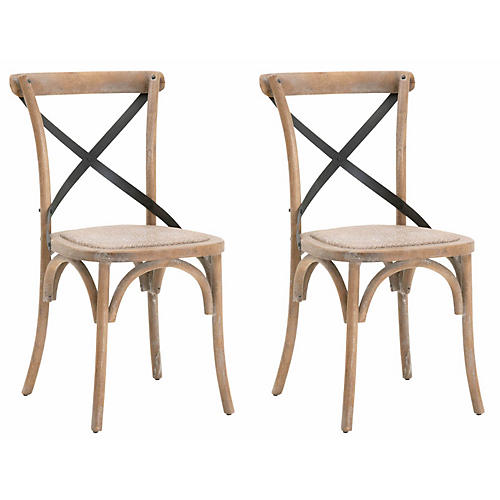 S/2 Marleigh Side Chairs, Natural