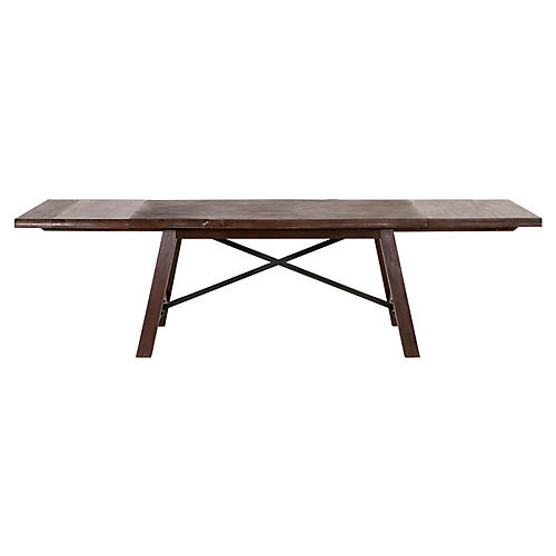 Nixon Extension Dining Table, Rustic Java