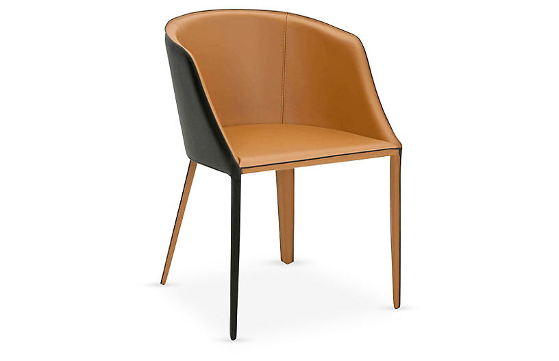 Reeve Side Chair, Saddle Leather