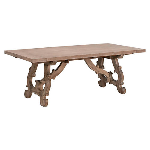 Haute Dining Table, Natural Gray