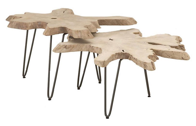Asst. of 2 Bank Outdoor Nesting Tables, Gray