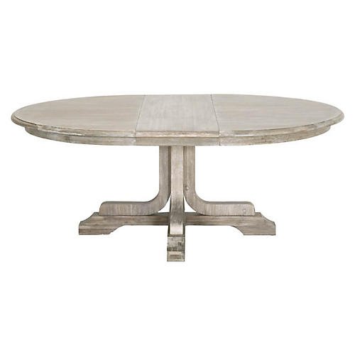 Torrey Extension Dining Table, Natural Gray