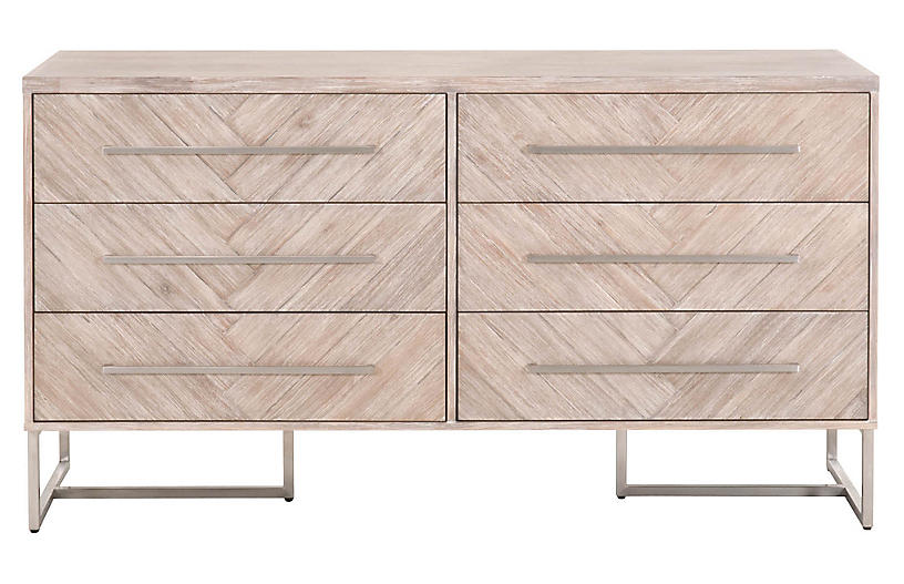 Harlowe Double Dresser, Natural Gray