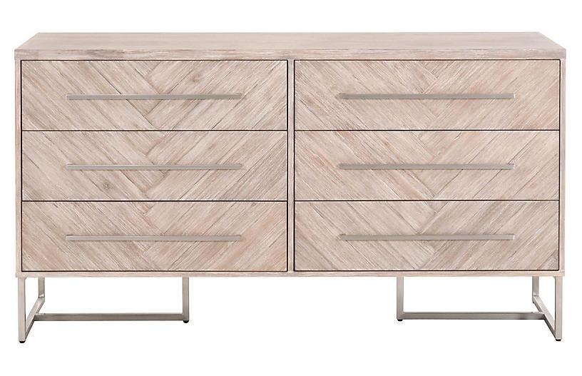 Harlowe Double Dresser, Natural Gray