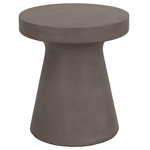 Keats Side Table, Slate Gray