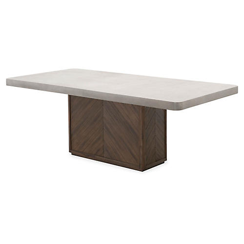 Apex Dining Table, Slate Gray