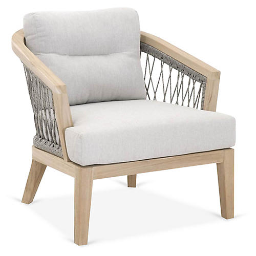 Web Outdoor Club Chair, Platinum