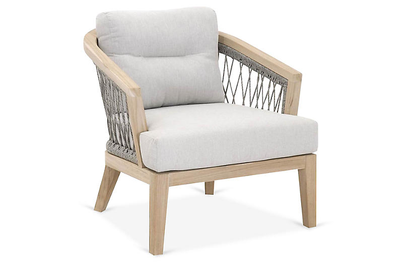 Web Outdoor Club Chair, Platinum