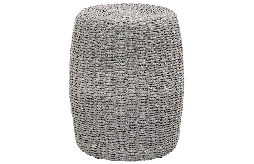 Loom Outdoor Side Table, Platinum