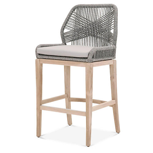 Easton Outdoor Barstool, Smoke Gray