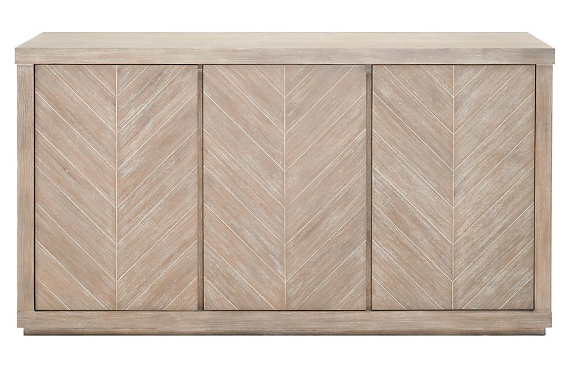 Mavis Media Console, Natural Gray