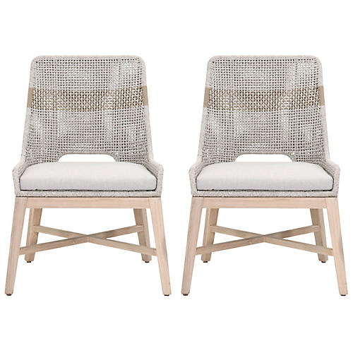 S/2 Arras Outdoor Dining Chairs, Taupe/Natural