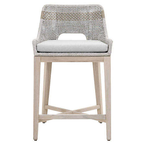 Tapestry Outdoor Counter Stool, Taupe/Natural
