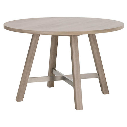 Roselle Round Dining Table, Natural Gray