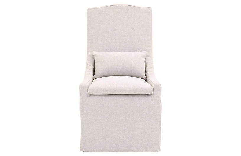 Adele Outdoor Dining Chair, Blanca