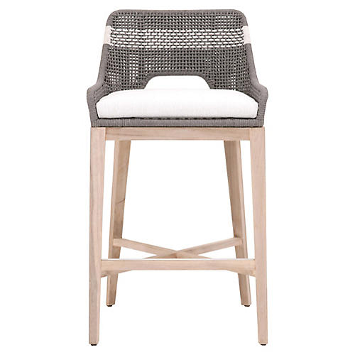 Arras Outdoor Barstool, Dove