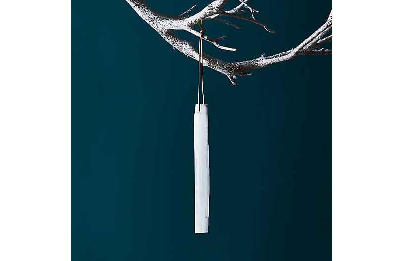 Wintry Icicle Ornament, Clear