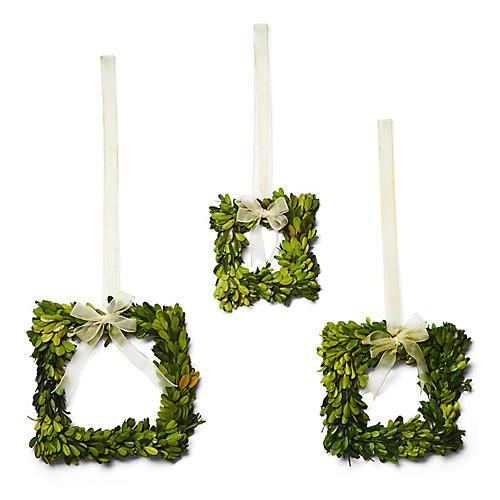 Asst. of 3 Bliss Wreaths, Preserved